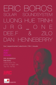 Another excellent night of experimental music at Hanoi Rock City. HRC has really stepped up with these events recently, and this one should be just as exciting as the others.