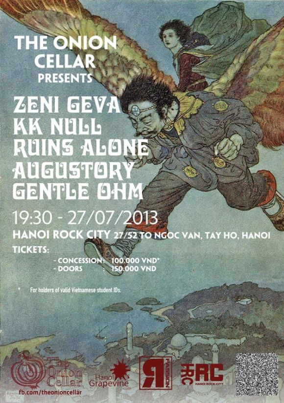 Zeni Guva, KK Null, Ruins Alone + more. Hanoi.